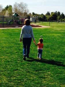Walking to park with Grandma