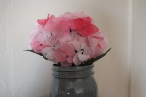 Beautiful handmade paper flowers.
