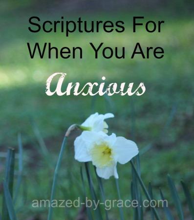 anxious scriptures